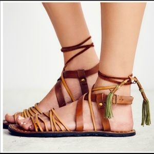 FREE PEOPLE WILLOW Strappy Summer Sandals size 40